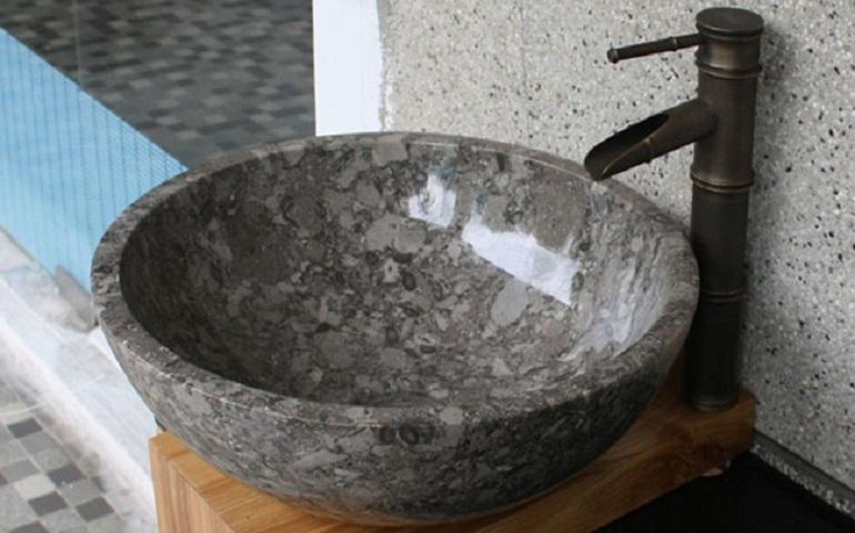Chậu rửa mặt bằng đá