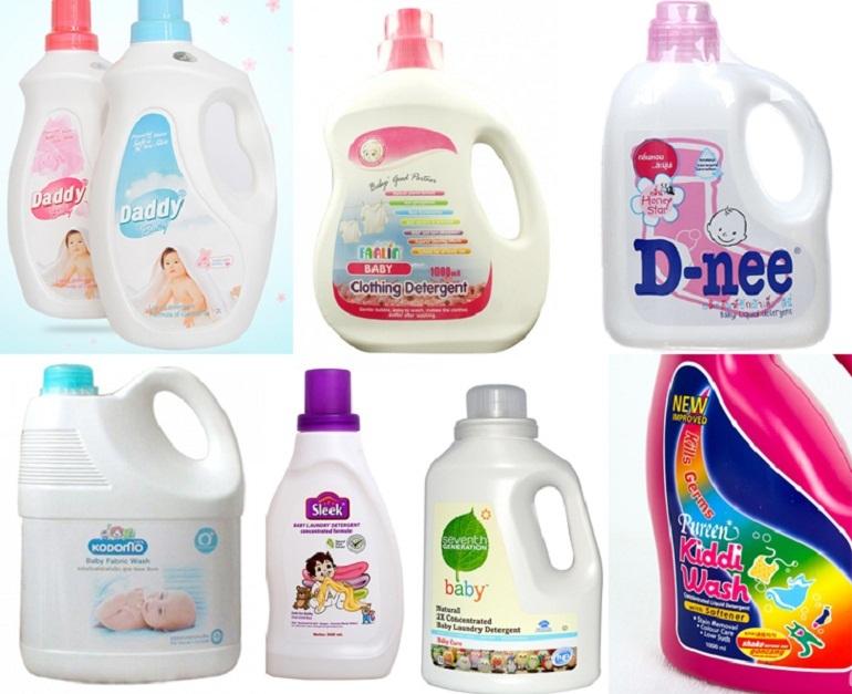 Các thương hiệu nước giặt, nước xả và nước tẩy quần áo uy tín cho bé
