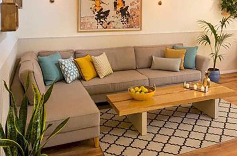 sofa góc nhỏ gọn cho phòng kháchsang chảnh