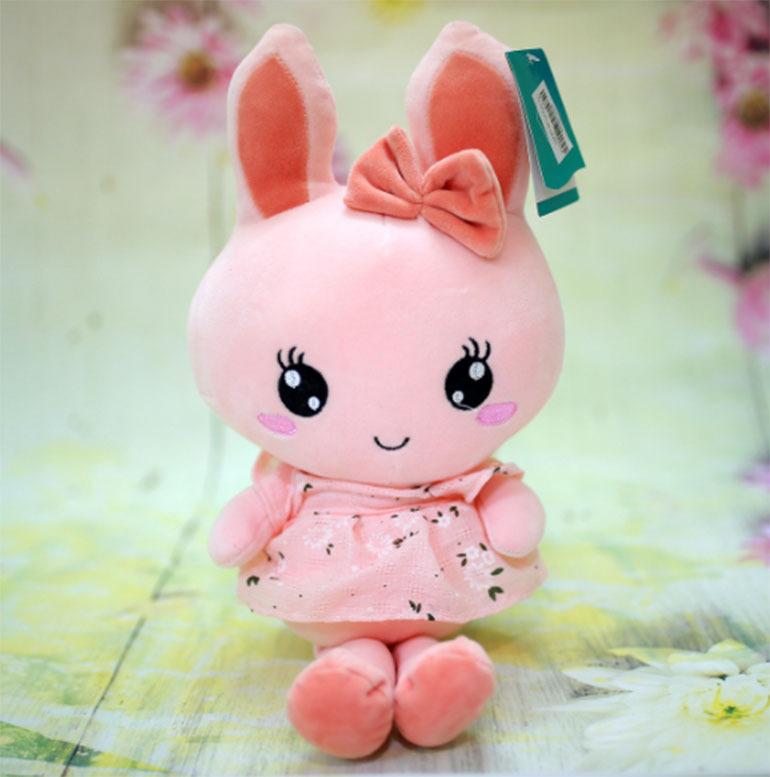 Đồ chơi thú bông thỏ váy hoa
