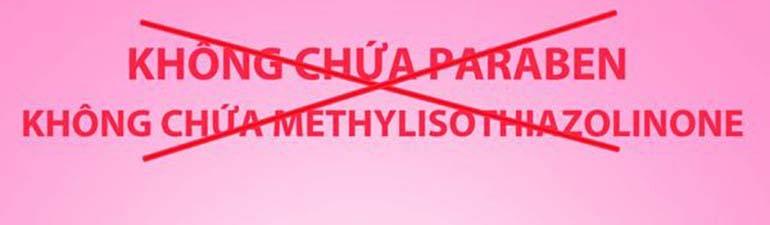 Phấn rôm cho em bé không chứa Paraben, Methylisothiazolinone