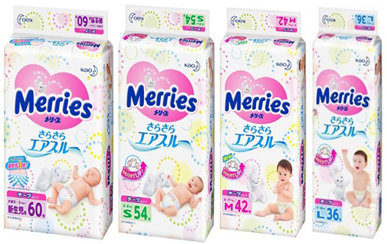 Khi nào nên đổi size tã Merries cao cấp cho bé?