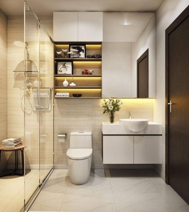 Nội thất phòng tắm thiết kế cho không gian hẹp