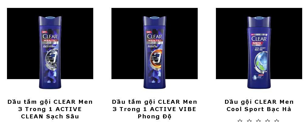 Dầu gội sạch gàu dành cho nam Clear men