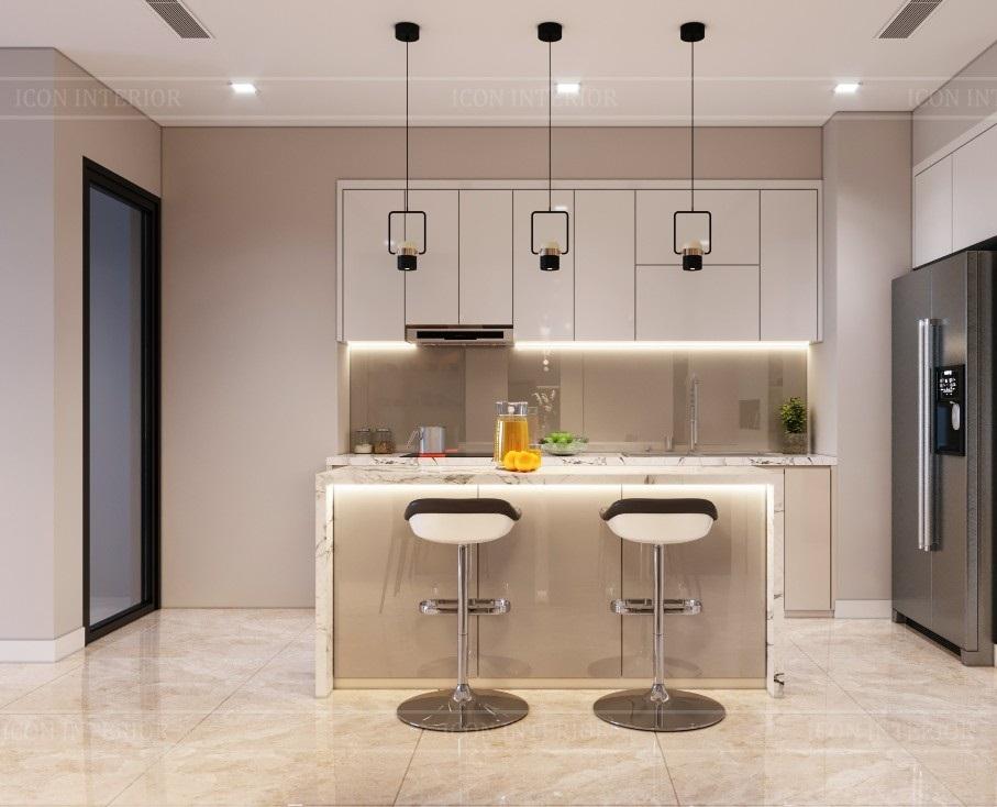 Thiết kế nội thất bếp & phòng ăn mở cho không gian rộng