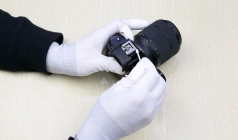 thiết bị vệ sinh ống kính máy ảnh