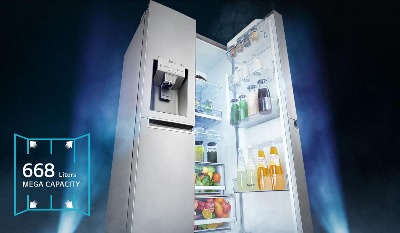 Tủ lạnh Inverter của LG có kiểu dáng rất đẹp
