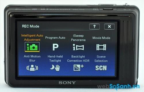 Máy ảnh compact Cybershot DSC-TX5 có nhiều chế độ chụp ảnh khác nhau