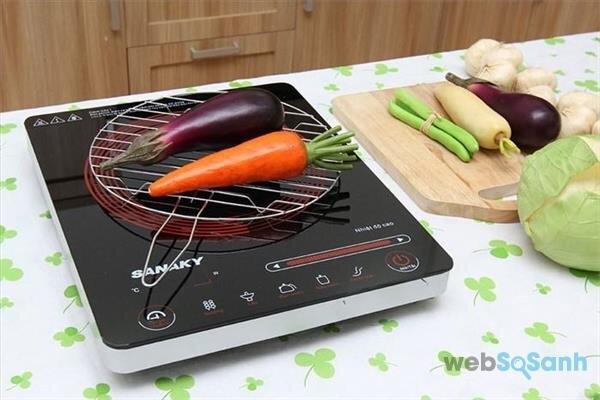 bếp hồng ngoại có thể nướng chín thực phẩm thơm ngon