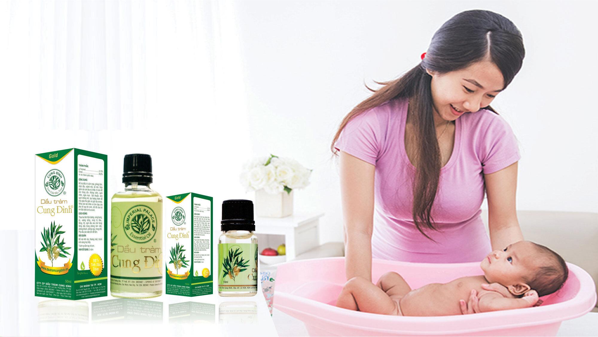 Massage với dầu tràm trà giúp sát khuẩn rất tốt