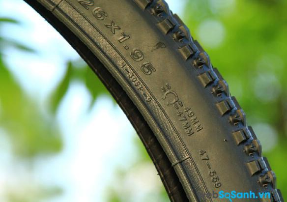 Thông số thường thấy trên lốp xe đạp