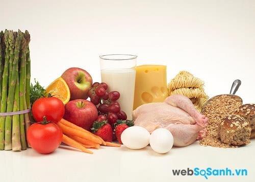Các thành phần có trong sữa bầu đều tồn tại trong các loại thức ăn khác nhau