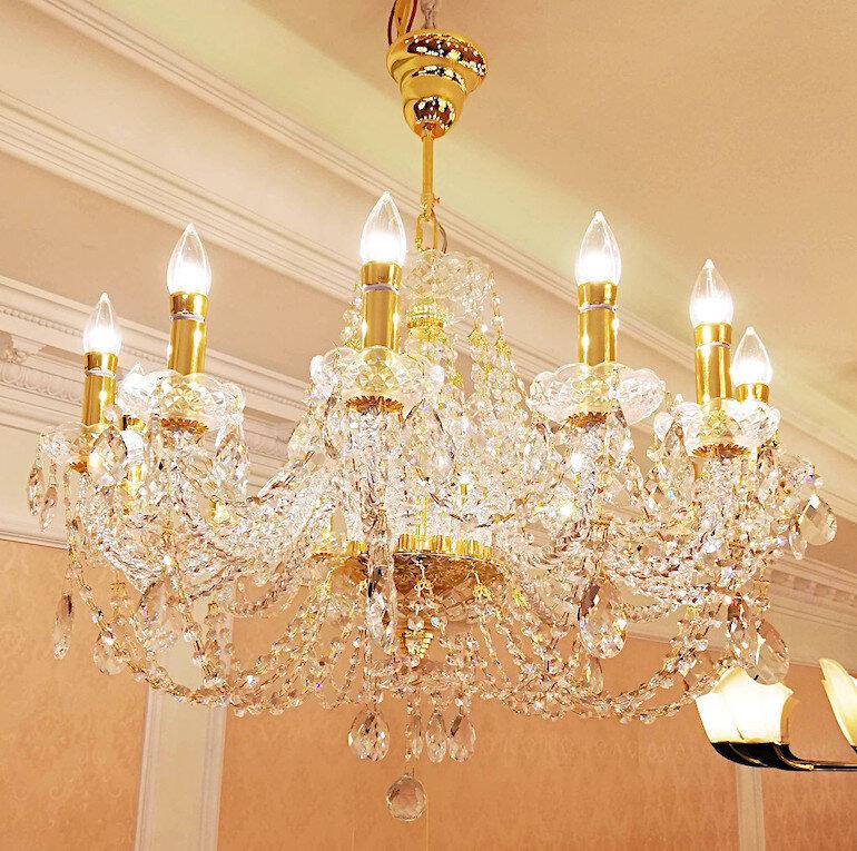 Đèn chùm hiện đại trang trí phòng khách