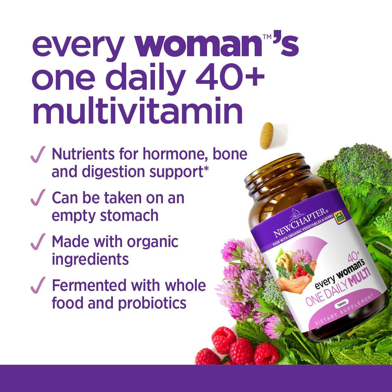 Thực phẩm chức năng cung cấp vitamin tổng hợp New Chapter Every Woman's One Daily Multi