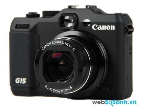 Máy ảnh compact PowerShot G15 được trang bị cảm biến BSI-CMOS kích thước 1/1.7