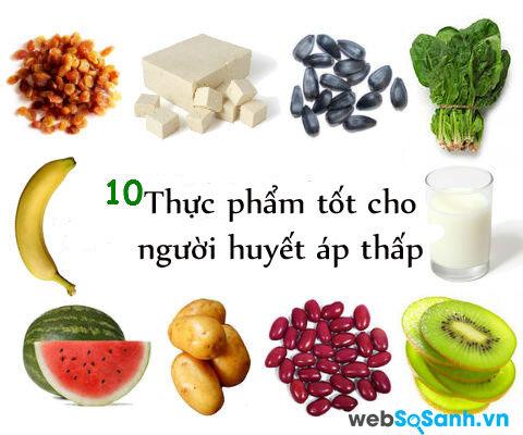 Những thực phẩm người huyết áp thấp nên ăn