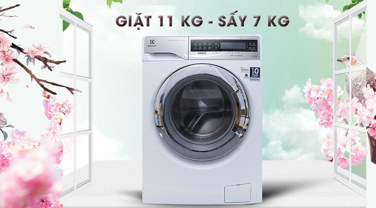 Máy giặt sấy khô không cần phơi Electrolux