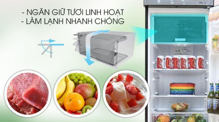 Tủ lạnh Sharp Inverter 253 lít SJ-X281E-DS - Giá rẻ nhất: 5.200.000 vnđ