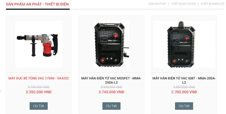 Giới thiệu một số sản phẩm mà công ty An Phát đang cung cấp cho khách hàng