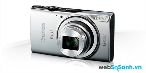 Ống kính của máy ảnh compact Canon IXUS 275 HS có tiêu cự 4.5- 54 mm zoom 12x