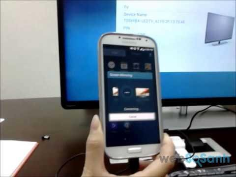 Kết nối Screen Mirroring
