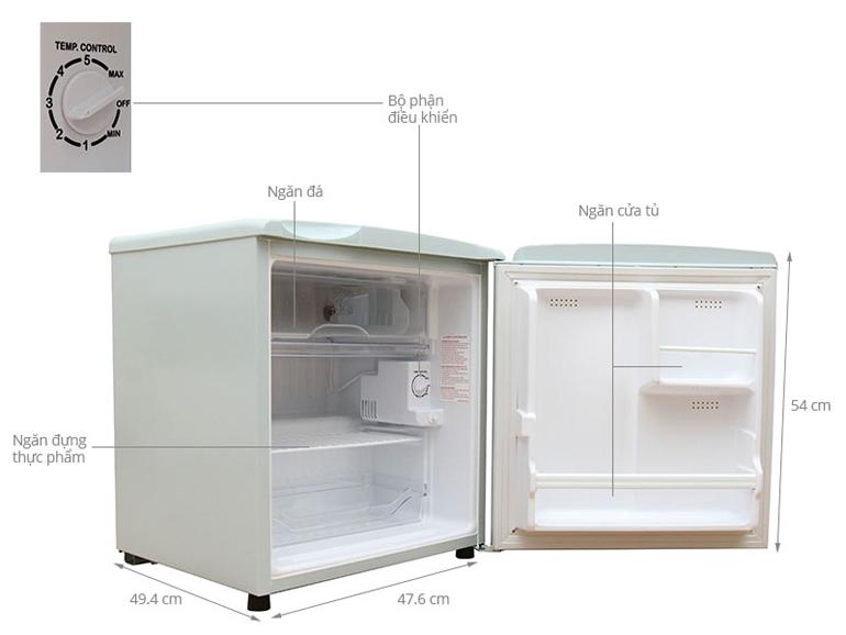 Tủ Lạnh AQUA 50 Lít AQR-55AR, SH