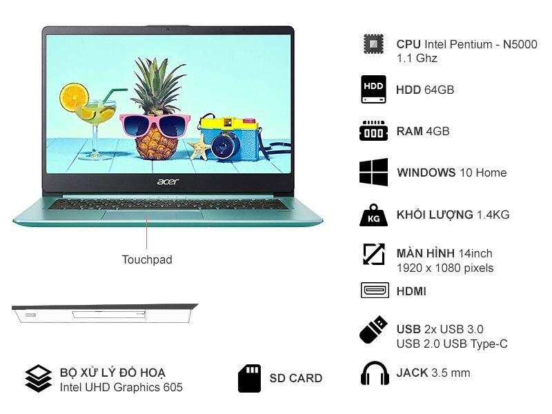 Thông số kỹ thuật Acer Swift 1