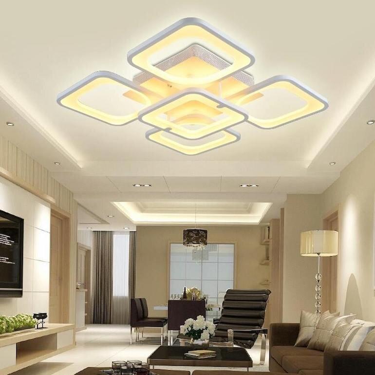 Những ưu điểm của đèn trần phòng khách hiện đại