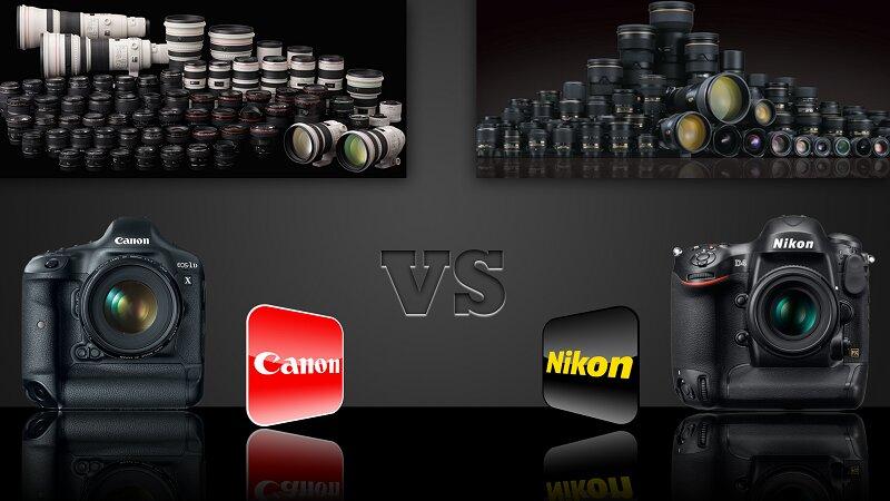 Đặt lên bàn cân so sánh hai dòng máy ảnh Canon và Nikon