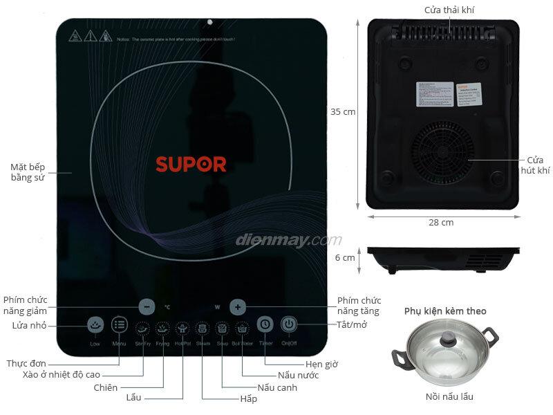 Bếp từ Supor Easy-using SDHCB45VN-210