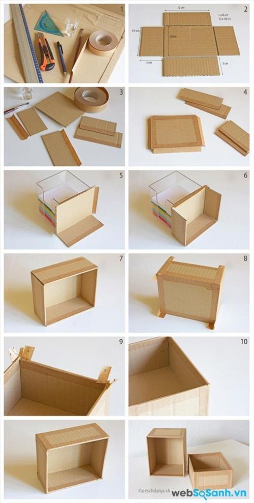 DIY tự làm hộp chứa đồ