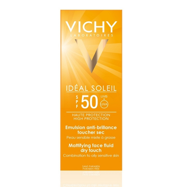 Kem chống nắng Vichy Ideal Soleil SPF 50 Mattifying Face Fluid Dry Touch