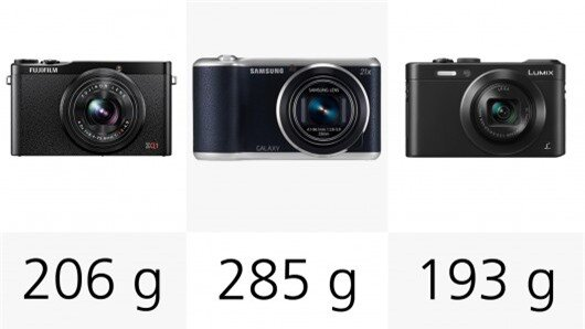 If you're really counting the weight and want to travel light, the Fujifilm XQ1 or Panason...