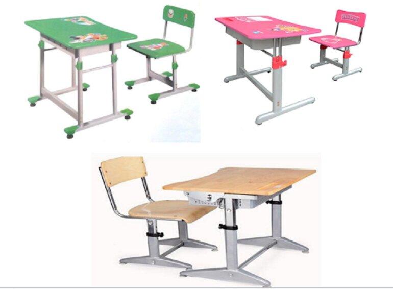 Bàn ghế học sinh Hòa Phát có nhiều loại khác nhau