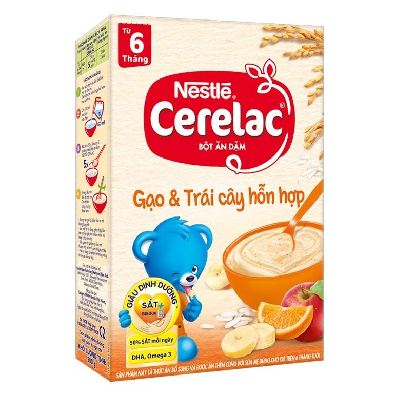 Bột ăn dặm của Nga Nestle Cerelac hương vị thơm ngoncho bé