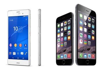 Xperia Z3 vs iPhone 6, So sanh Xperia Z3 va iPhone 6, iphone 6, gia iphone 6, iphone 6 plus, iphone 5, iphone, ios 6, iphone 4, iphone 5s, sony xperia, sony xperia z3,