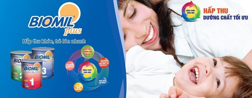 Sữa BIOMIL Plus giúp bé hấp thu chất dinh dưỡng tốt hơn nên bé được tăng cân đều hơn