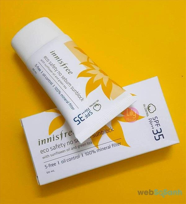 Kem chống nắng Innisfree Eco Safety No Sebum Sunblock SPF35 PA+++