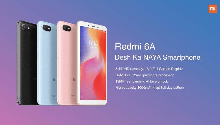 Mẫu màu Xiaomi Redmi 6A