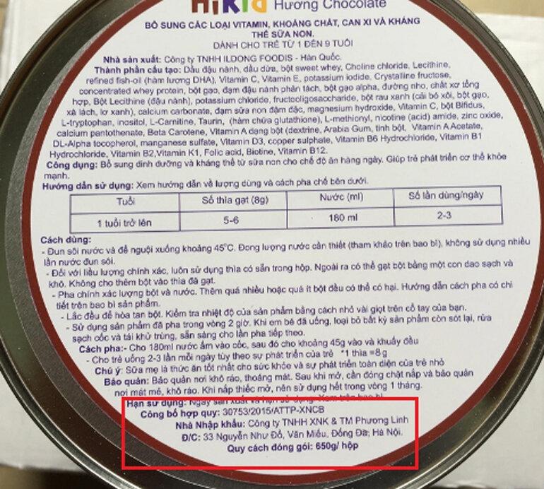 Sữa Hikid Hàn Quốc và sữa Hikid nhập khẩu về Việt Nam có giống nhau không ?