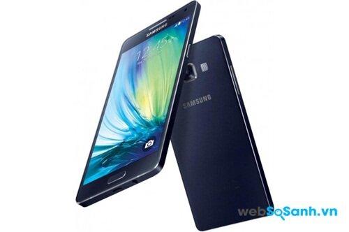 Điện thoại Galaxy A5 có thiết kế nguyên khối từ hợp kim nhôm