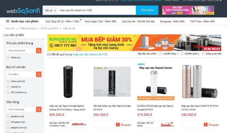 Giá dao cạo râu điện Xiaomi ST-R102 rất rẻ