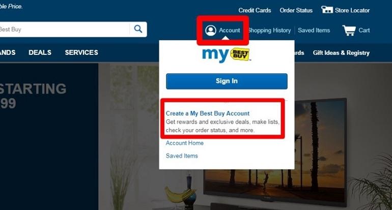 hướng dẫn đăng ký và mua hàng trên best buy
