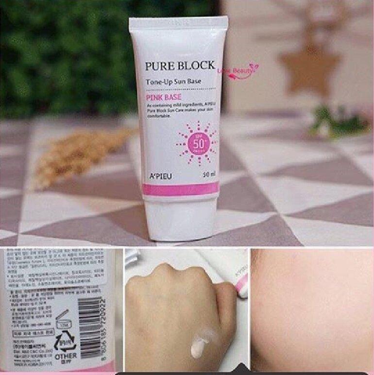 Kem chống nắng A'pieu Pure Block Tone-Up Sun Base SPF 50+ PA+++