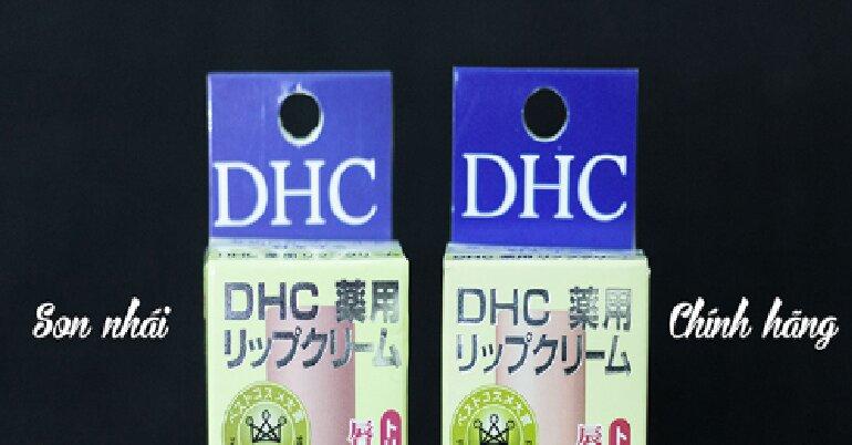 Phân biệt son dưỡng DHC Lip Cream giả và thật qua bao bì vỏ hộp son bên ngoài