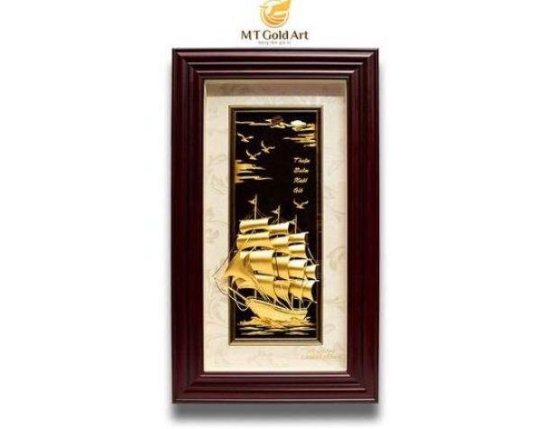 tranh thuyền buồm MT Gold Art