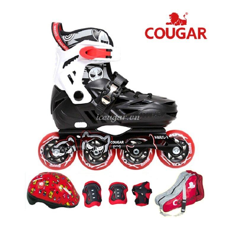 Phần thân giày của giày trượt patin Cougar làm bằng chất liệu nhựa Plastic cứng, chắc và bền