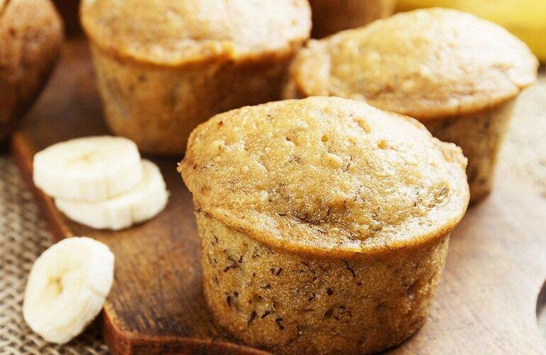 Bánh ăn dặm cho bé 6 tháng muffin chuối