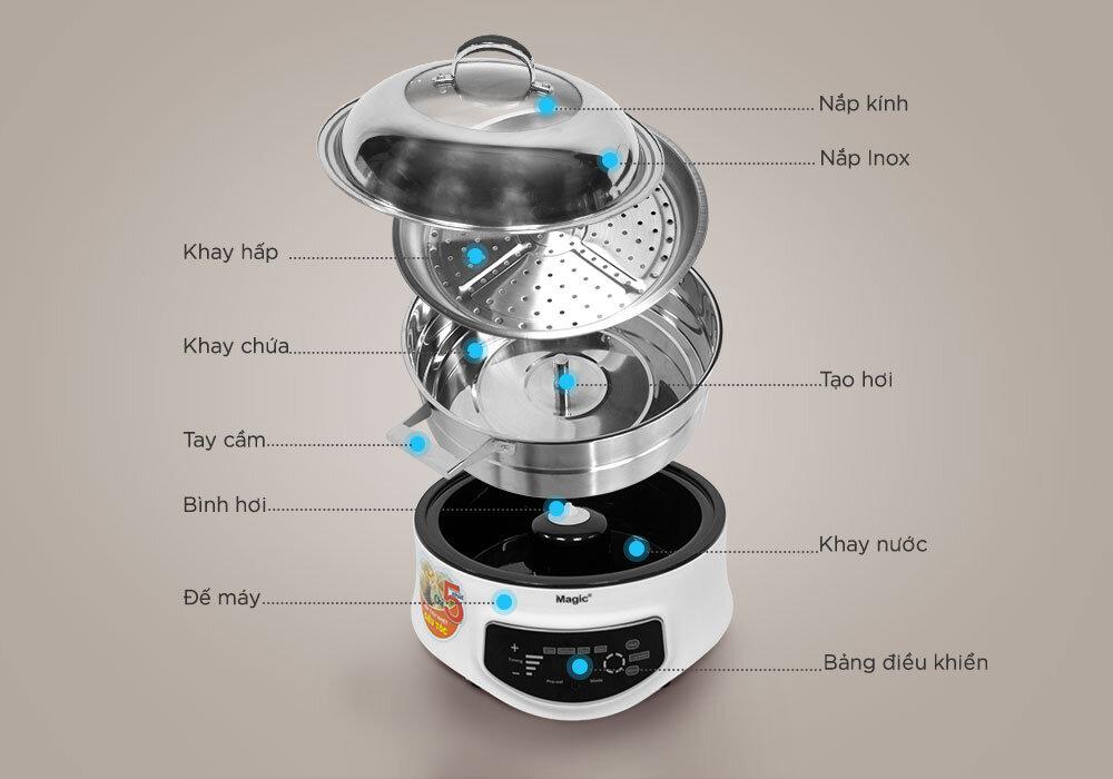 Thiết kế nồi hấp thủy nhiệt Magic Korea A67