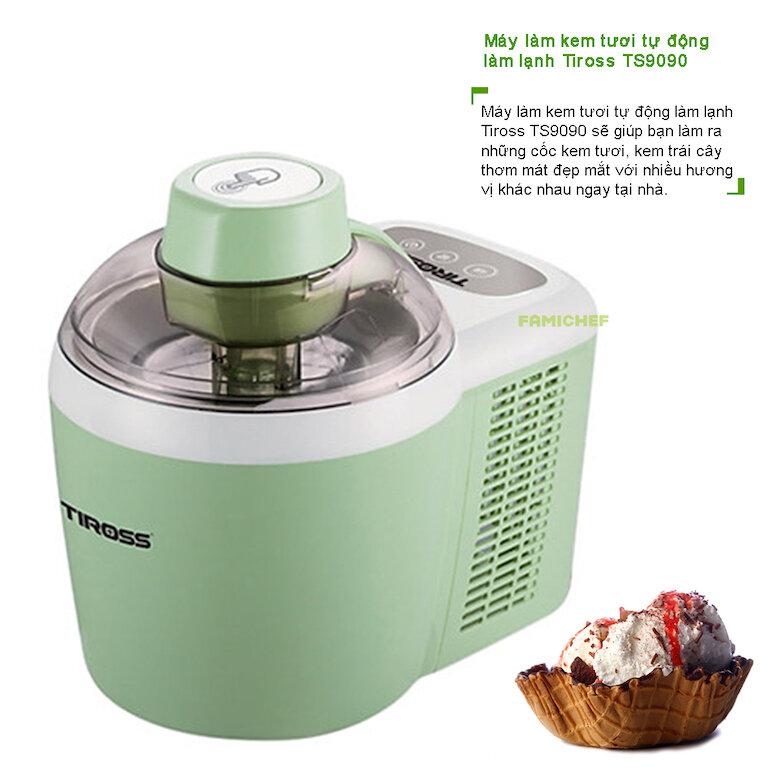 Ưu điểm của sản phẩm máy làm kem Tiross TS9090